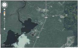 satellite view of snowshoe resort