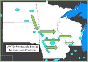 Wind energy moves from west to east.