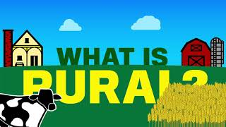 What is rural? Farm, cows, grain.